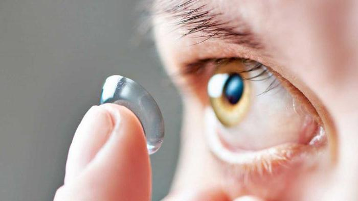Можно ли носить контактные линзы?