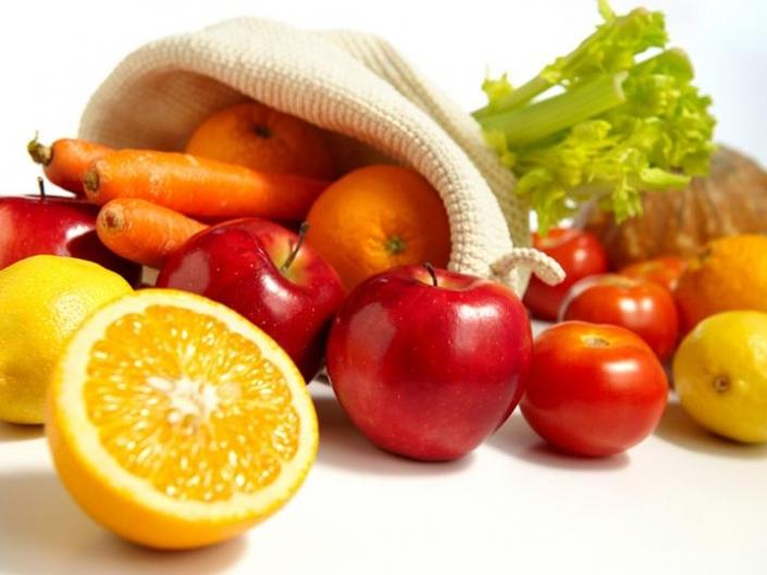 Разнообразие витаминов в еде